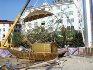 黄铜锻造帆船